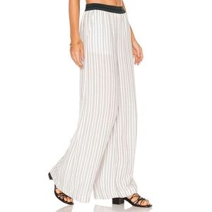New Free People Striped Wide Leg Pull On Pants
